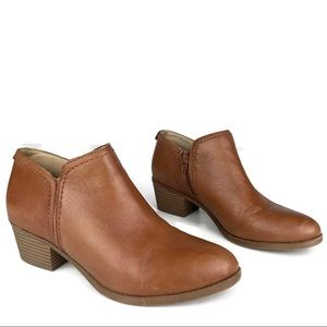 Zarie Ankle Boots Brown Leather Zip Naturalizer